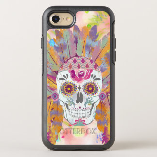 BooPooBeeDoo watercolor skull chief OtterBox Symmetry iPhone 8/7 Case