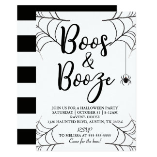 Boos & Booze Halloween Invitation