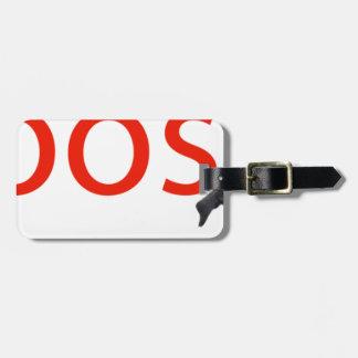 boosh brand logo apparel luggage tag
