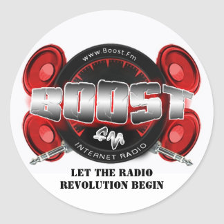 "Boost FM 1"" stickers"