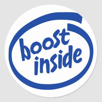 Boost Inside Classic Round Sticker