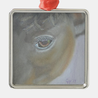 Boost My Ego - Horse Painting Metal Ornament