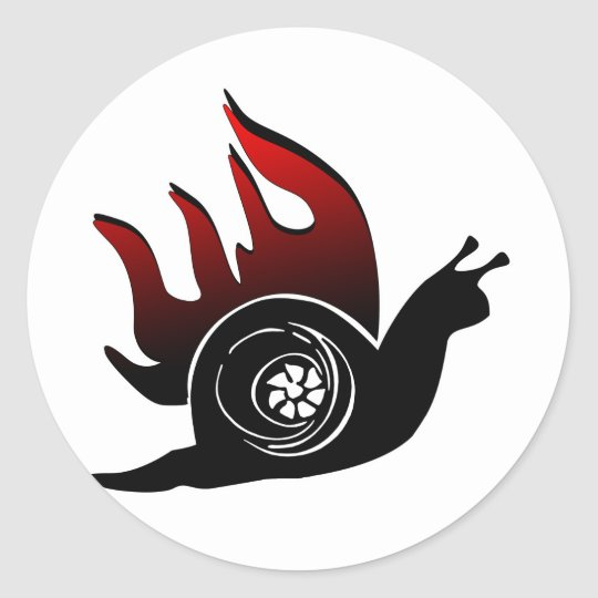 Boost Snail Classic Round Sticker