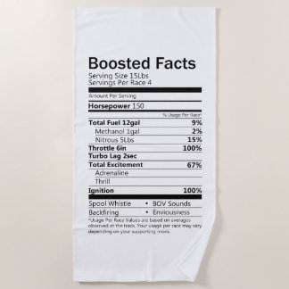 Boosted Facts Beach Towel