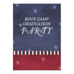 "Boot Camp Graduation Party Invitation 5"" X 7"" Invitation Card"