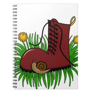Boot in the grass note book