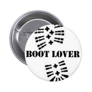 boot lover 2 inch round button