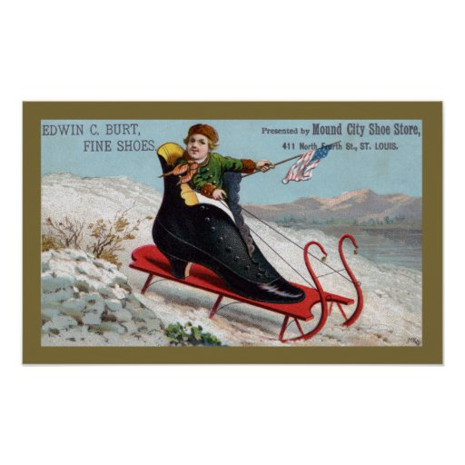 Boot Sled for Burts Shoes Poster