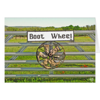 Boot Wheel on Hwy 290 Near Johnson City, TX Card