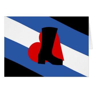 Bootblack Flag Card