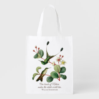 Booted Racket Tail Hummingbirds Grocery Bag