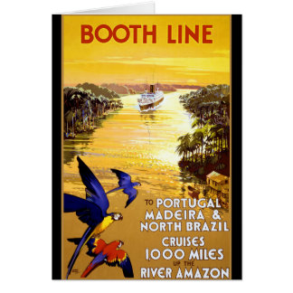 Booth Line to Portugal Madeira Greeting Card