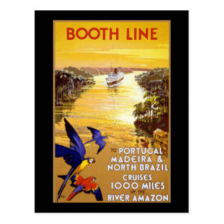 Booth Line to Portugal Madeira Postcard