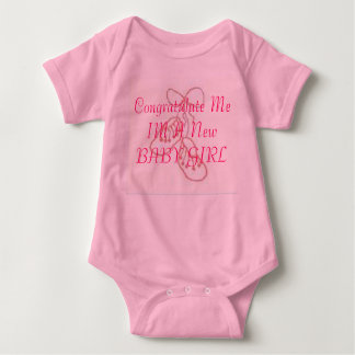 BootiesDetail, Congratulate Me IM A New BABY GIRL Baby Bodysuit