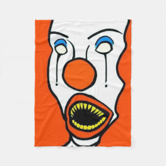 bootleggy the cuddly clown fleece blanket