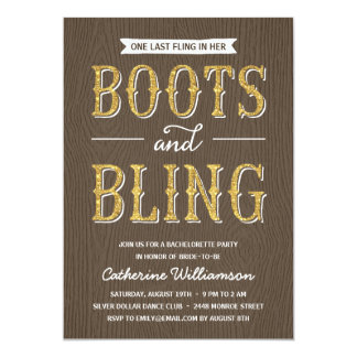 """Boots and Bling 