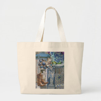 Boots and Crosses Large Tote Bag