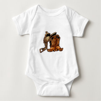 Boots and Saddle Baby Bodysuit