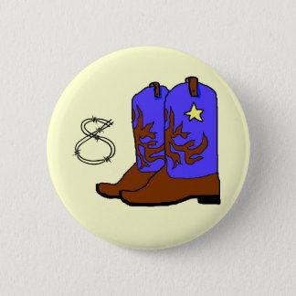 Boots Birthday 2 Inch Round Button