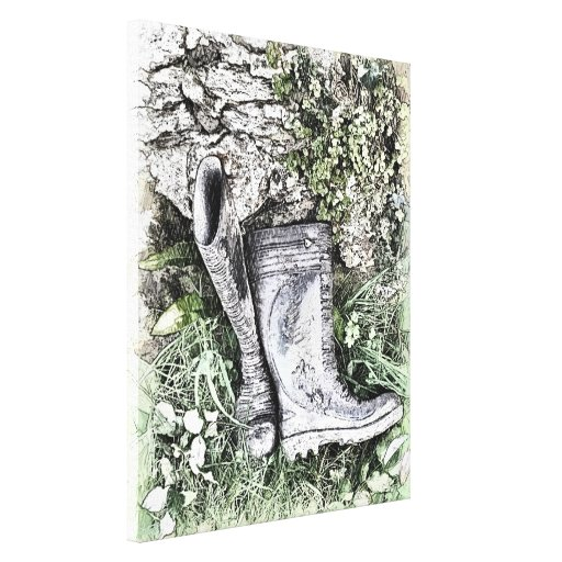 BOOTS STRETCHED CANVAS PRINTS