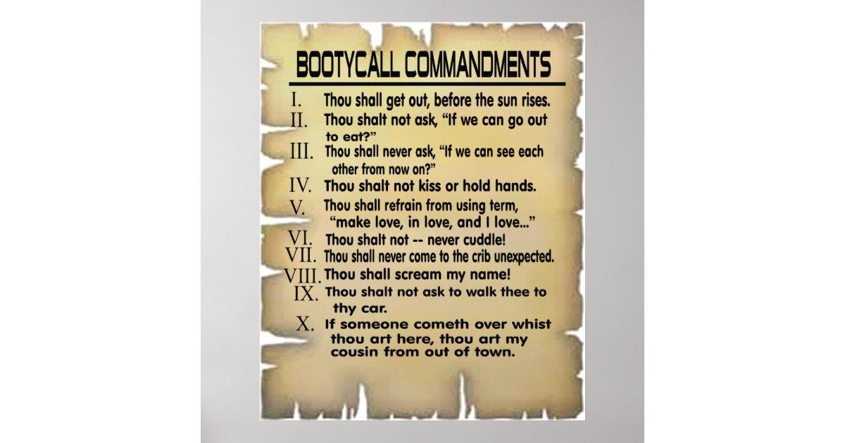 booty commandments