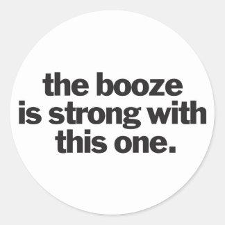 booze3 classic round sticker