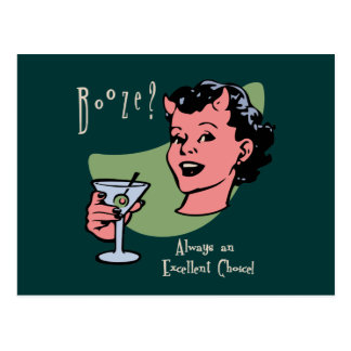 Booze Choice Postcard