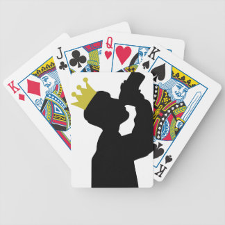 boozer king with crown icon bicycle playing cards