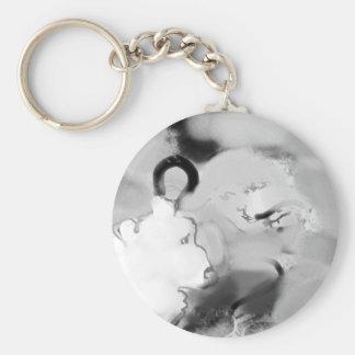 bopeepsheepb&w basic round button keychain