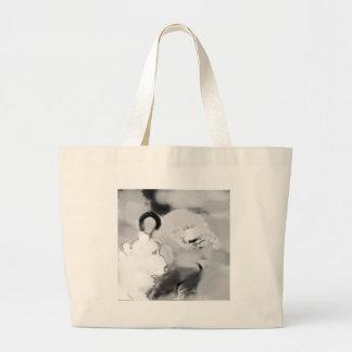 bopeepsheepb&w grand tote bag