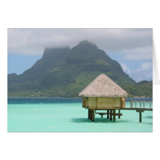 Bora Bora Bungalow Note Card