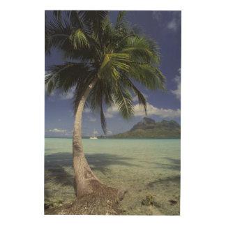 Bora Bora, French Polynesia Mt. Otemanu seen Wood Print