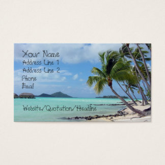 Bora Bora Lagoon Business Card
