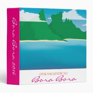 Bora bora landscape 3 ring binder