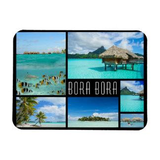 Bora Bora landscapes collage travel photo Magnet