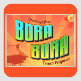 BORA BORA SQUARE STICKER
