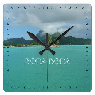 Bora Bora Square Wall Clock