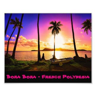 Bora Bora Sunset Photo Print