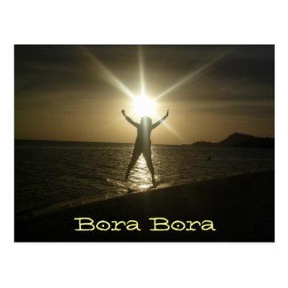Bora Bora Sunset Postcard