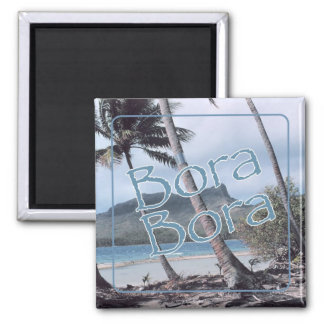 Bora Bora Travel Souvenir Fridge Magnet