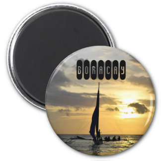 Boracay of Philippines 2 Inch Round Magnet