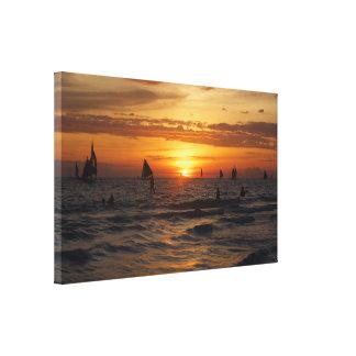 Boracay sunset. canvas print