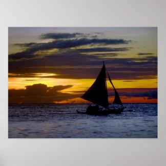 Boracay Sunset Poster
