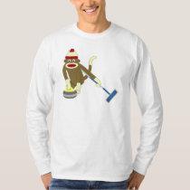 Bordage olympique de singe de chaussette tshirts