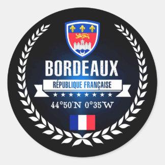 Bordeaux Classic Round Sticker