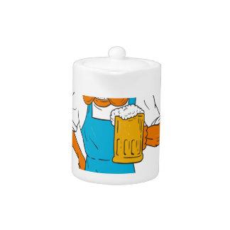 Bordeaux Dog Brewer Mug Mascot Cartoon