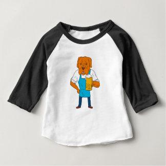 Bordeaux Dog Brewer Mug Mascot Cartoon Baby T-Shirt