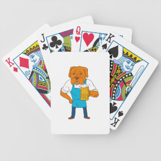Bordeaux Dog Brewer Mug Mascot Cartoon Bicycle Playing Cards