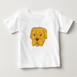 Bordeaux Dog Head Cartoon Baby T-Shirt