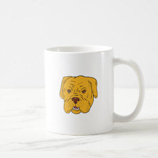 Bordeaux Dog Head Cartoon Coffee Mug